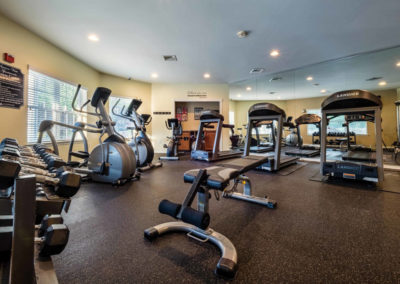 Wonderful fitness center with quality cardio equipment exclusively in Saucon Valley apartments for rent