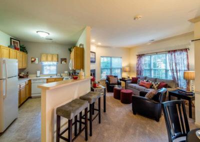 Saucon View - Kitchen Living Room