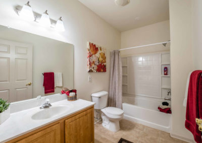 Large master bathroom with bathtub at Saucon View in Bethlehem, PA