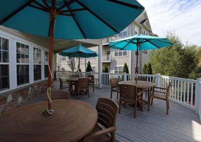 Another angle of Sauson View apartment rentals' clubhouse sundeck in Bethlehem, PA