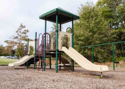 Child-friendly tot lot for residents on Saucon View apartment grounds in Bethlehem